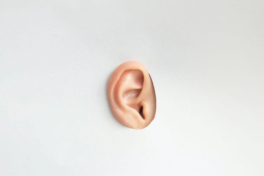 正しい付け方は耳を持ち上げること