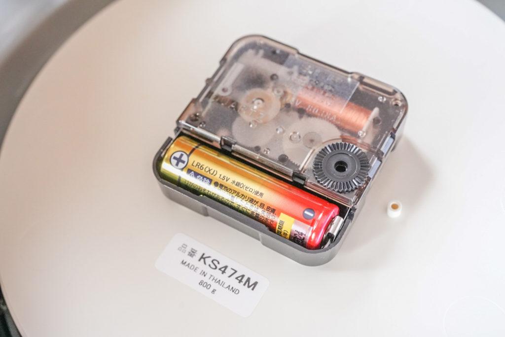 電池は単3電池1本だけどよく動いてくれますね